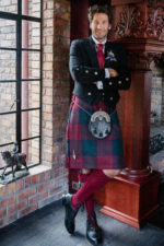 Traditional formal kilted outfit. Suave and very cool.